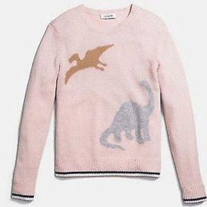 RARE Coach 1941 Dino Intarsia Cashmere Sweater S